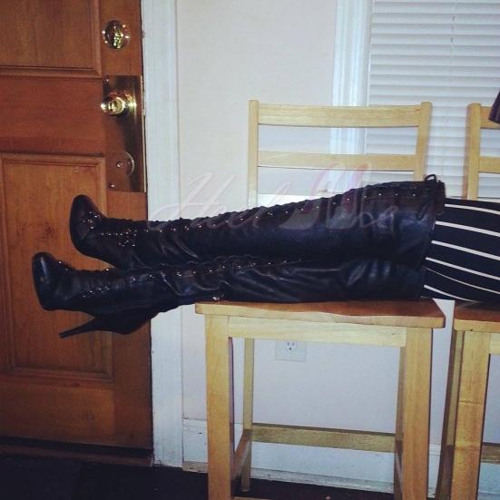 Thigh high GUESS boots